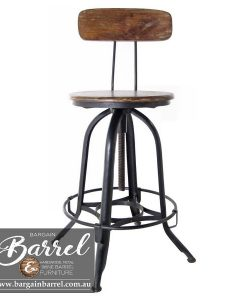 Bargain Barrel Wine Barrel Furniture Sales – Vintage Stool Image 2