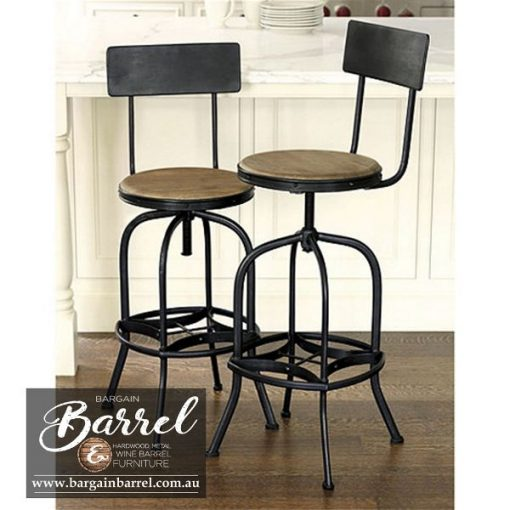 Bargain Barrel Wine Barrel Furniture Sales – Vintage Stool Image 3