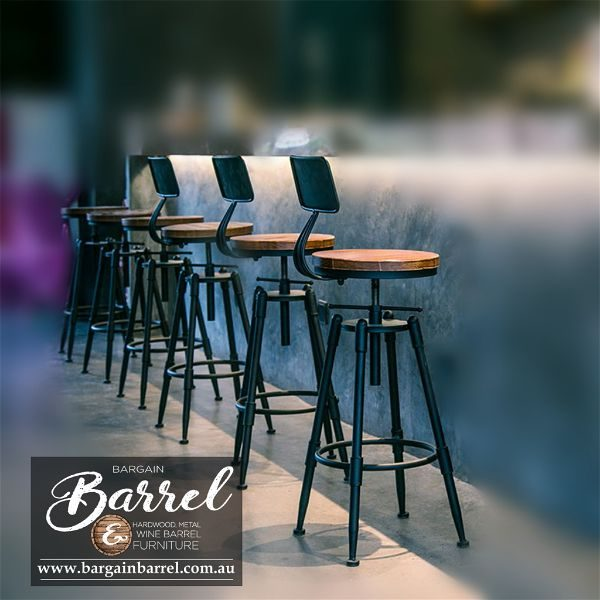 Bargain Barrel Wine Barrel Furniture Sales – Vintage Stool Image 4