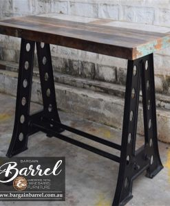 Bargain Barrel Wine Barrel Furniture Sales – Vintage Table A Frame Image 1
