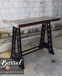 Bargain Barrel Wine Barrel Furniture Sales – Vintage Table A Frame Image 2