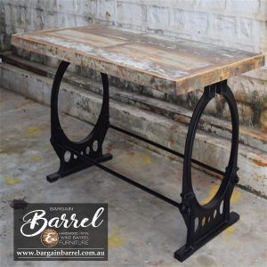 Bargain Barrel Wine Barrel Furniture Sales – Vintage Table O Frame Image 1