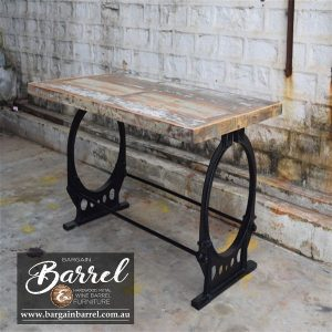 Bargain Barrel Wine Barrel Furniture Sales – Vintage Table O Frame Image 2