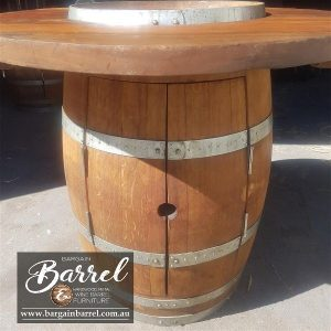 Bargain Barrel Wine Barrel Furniture Sales – Barrel Bar Cabinet Image 1