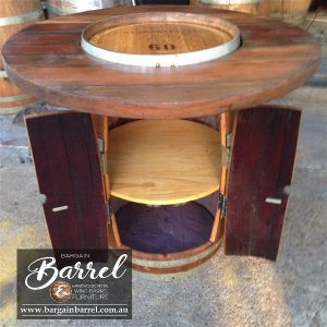Bargain Barrel Wine Barrel Furniture Sales – Barrel Bar Cabinet Image 2