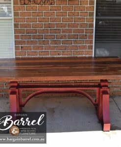 Bargain Barrel Wine Barrel Furniture Sales – Big Red Crank Table Image 4