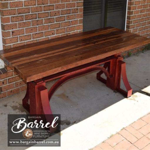 Bargain Barrel Wine Barrel Furniture Sales – Big Red Crank Table Image 5