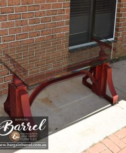 Bargain Barrel Wine Barrel Furniture Sales – Big Red Crank Table Image 7