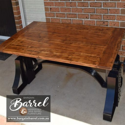 Bargain Barrel Wine Barrel Furniture Sales – Ned Kelly Crank Table Image 10