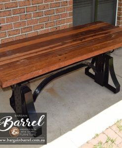 Bargain Barrel Wine Barrel Furniture Sales – Ned Kelly Crank Table Image 11