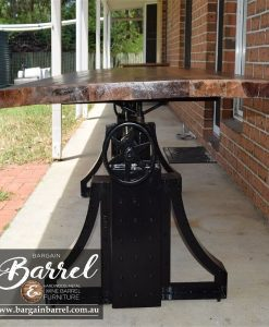 Bargain Barrel Wine Barrel Furniture Sales – Ned Kelly Crank Table Image 12