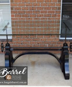 Bargain Barrel Wine Barrel Furniture Sales – Ned Kelly Crank Table Image 15