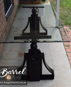 Bargain Barrel Wine Barrel Furniture Sales – Ned Kelly Crank Table Image 16
