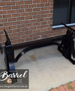 Bargain Barrel Wine Barrel Furniture Sales – Ned Kelly Crank Table Image 5