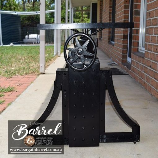Bargain Barrel Wine Barrel Furniture Sales – Ned Kelly Crank Table Image 6