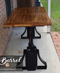 Bargain Barrel Wine Barrel Furniture Sales – Ned Kelly Crank Table Image 7