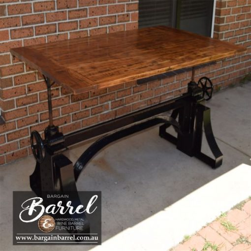 Bargain Barrel Wine Barrel Furniture Sales – Ned Kelly Crank Table Image 8