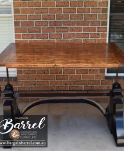 Bargain Barrel Wine Barrel Furniture Sales – Ned Kelly Crank Table Image 9